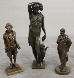 Lot Of 3 Bronzes Including A Well Dressed European