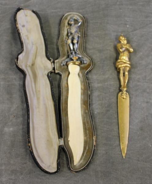 91: 2 Letter Openers Including Cased St. George