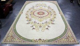 Large Aubusson Style Carpet.