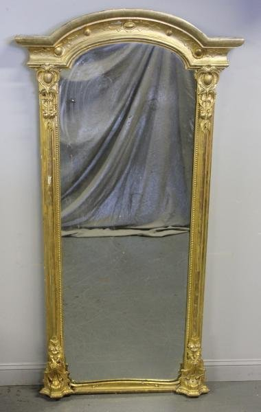 99: Giltwood and Gesso Pier Mirror.