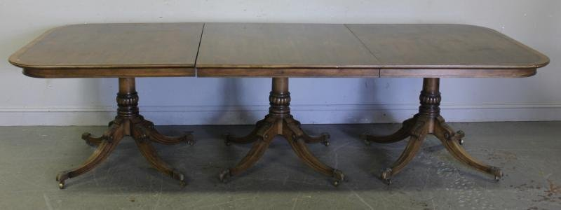 108: Banded Mahogany Dining Table.