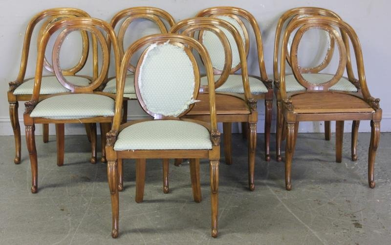 109: Set of 8 Mahogany Spoonback Chairs.