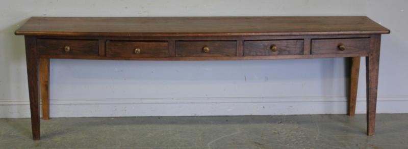 116: Antique 5 Drawer Hunt Table.