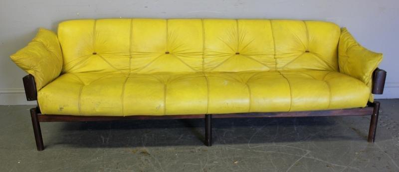 122: Midcentury Brazilian Rosewood Sofa.
