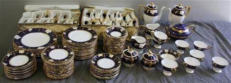 138: Large Royal Crown Derby Porcelain Dinner Set.