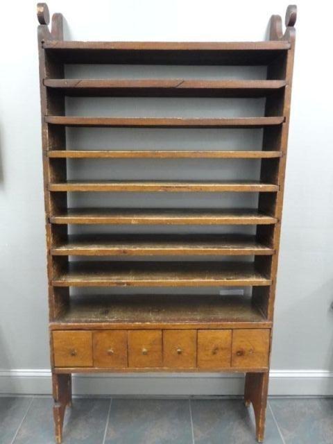 124: Unusual Antique American Pine Cabinet.