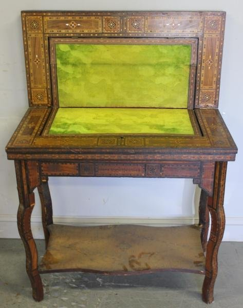 59: 19 Century Anglo Indian Flip Top Game Table.
