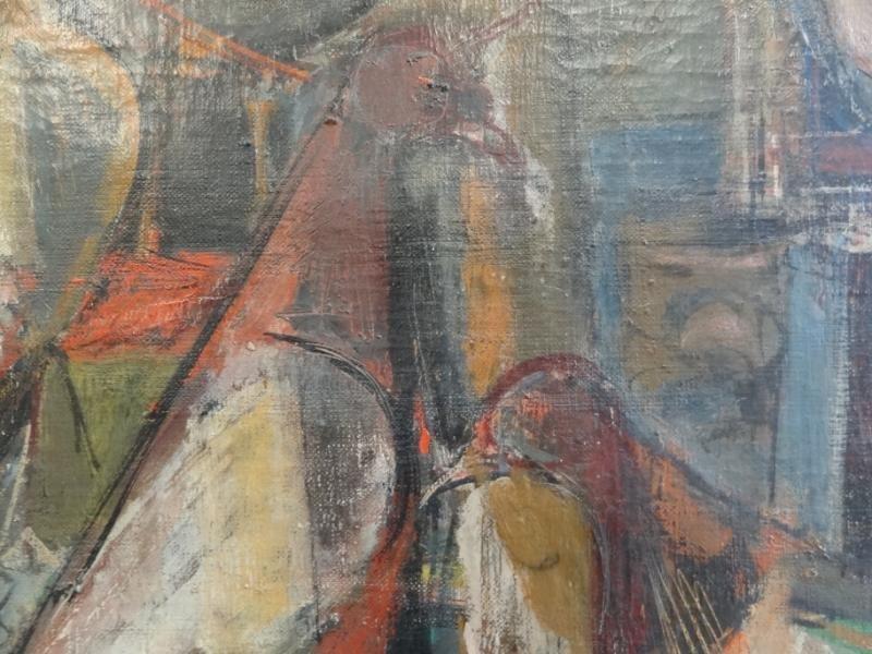 41A: GUTZMER, Alfred. 1960 Modernist O/C of Birds. - 3