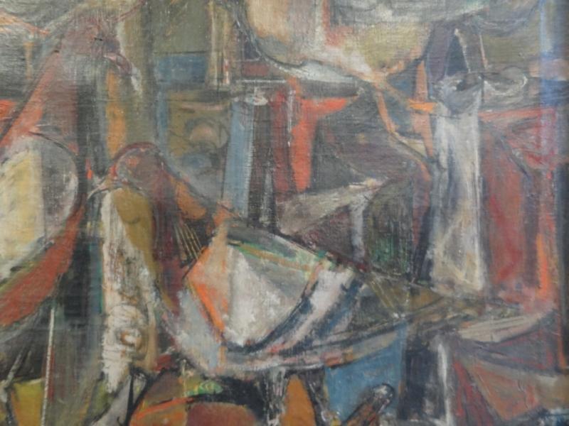 41A: GUTZMER, Alfred. 1960 Modernist O/C of Birds. - 4