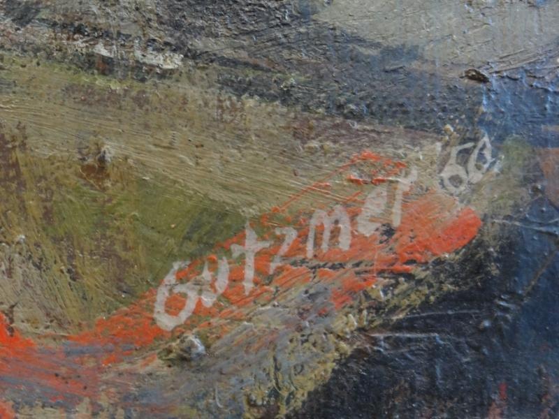 41A: GUTZMER, Alfred. 1960 Modernist O/C of Birds. - 6