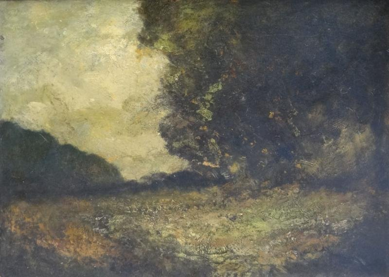 12A: Style of BLAKELOCK. Oil on Canvas Landscape.