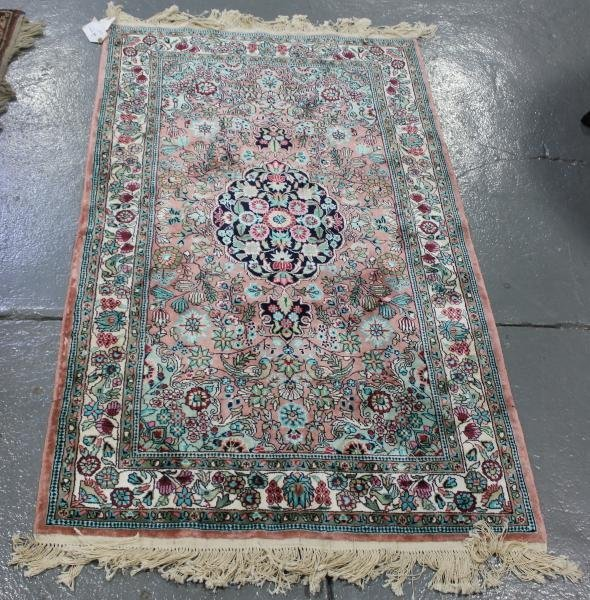 53C: Contemporary Handmade Oriental Scatter Carpet.