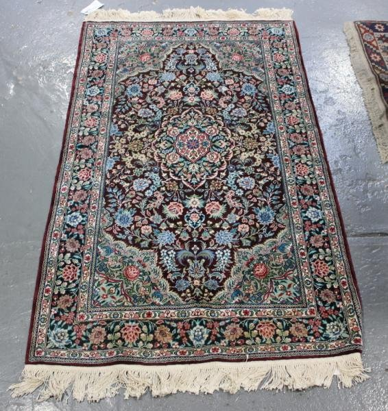 53D: Contemporary Handmade Oriental Scatter Carpet.