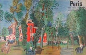 DUFY, Raoul. Paris Color Lithograph Poster.