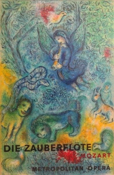 3: CHAGALL. Magic Flute Lithograph by Charles