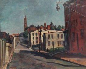 11: MARTINO, Giovanni. O/C Street Scene with Figure.