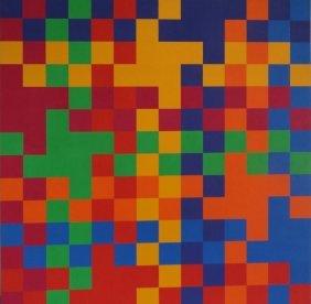 YRISARRY, Mario. 1974 Geometric Abstract O/C.
