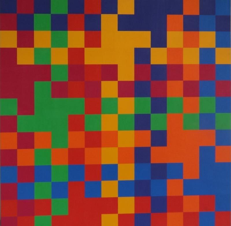 16: YRISARRY, Mario. 1974 Geometric Abstract O/C.