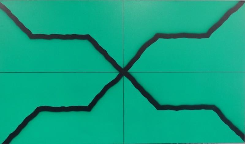 17: YRISARRY, Mario. Abstract O/C X-Form Composition.