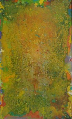 """20: JOHNSON, Daniel LaRue. Abstract O/C """"Scopophilia."""""""