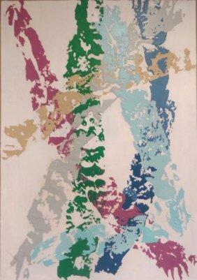 21: JOHNSON, Daniel LaRue. Abstract Oil on Canvas.