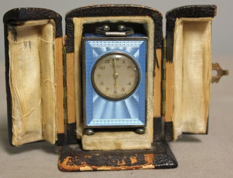 89: Gubelin Lucerne Miniature Guilloche Clock.