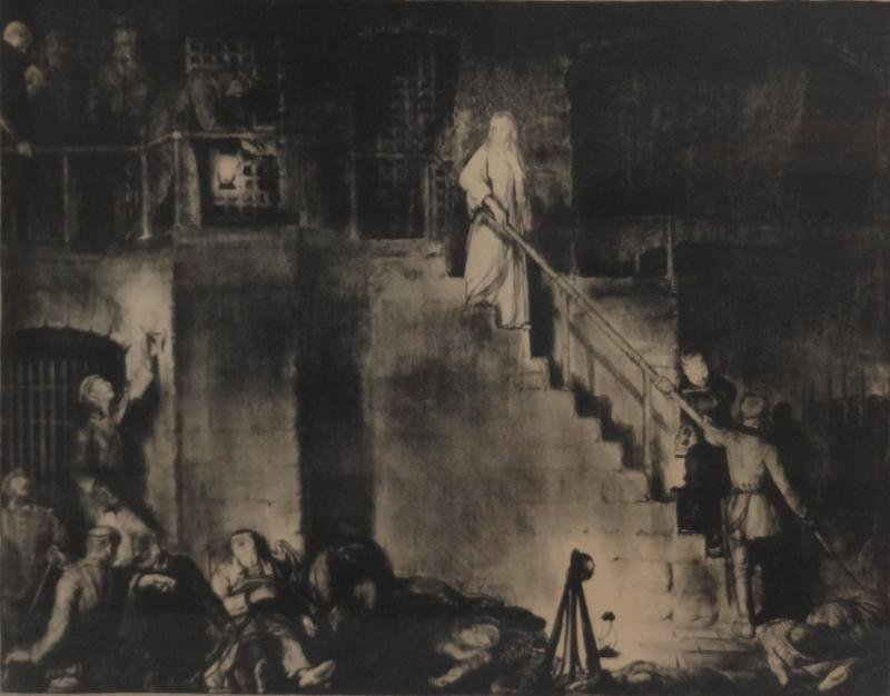 "21: BELLOWS, George. Lithograph ""The Murder of Edith"
