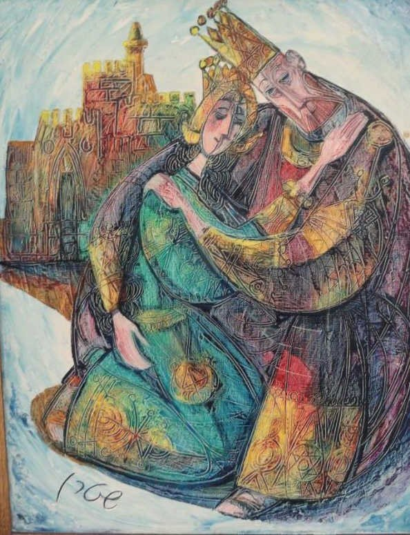 8: STERN,  Yossi. Judaic Oil/Canvas of King and Queen.