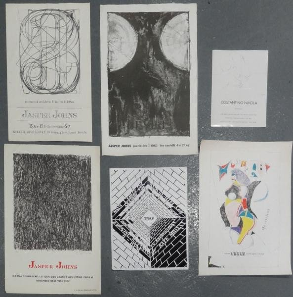 18: 6 Exhibition Posters - Includes 3 Jasper Johns,