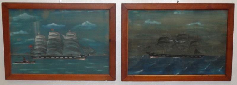 1: Two Early 20th Century American Folk Art Ship
