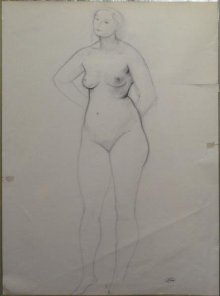 10: DERAIN, Andre. Charcoal of Nude.