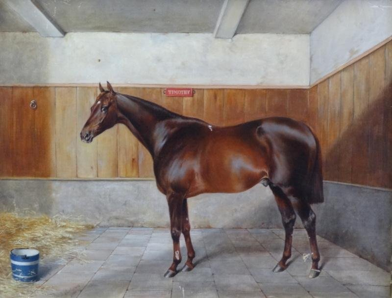 14: MATHEWS, John C. O/C Portrait of a Horse.
