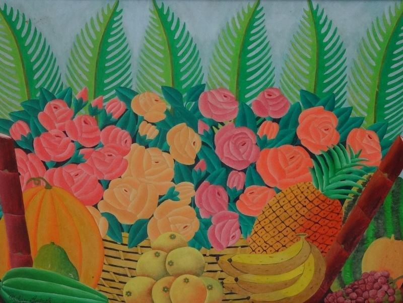 17: PHILIPPE-AUGUSTE. Haitian Oil Still Life of Fruit.