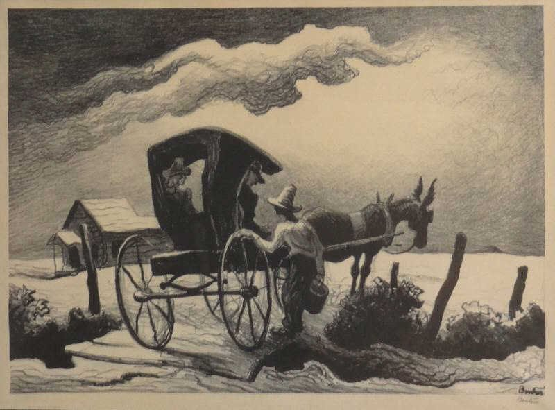 "21: BENTON, Thomas Hart. Lithograph ""Gateside"