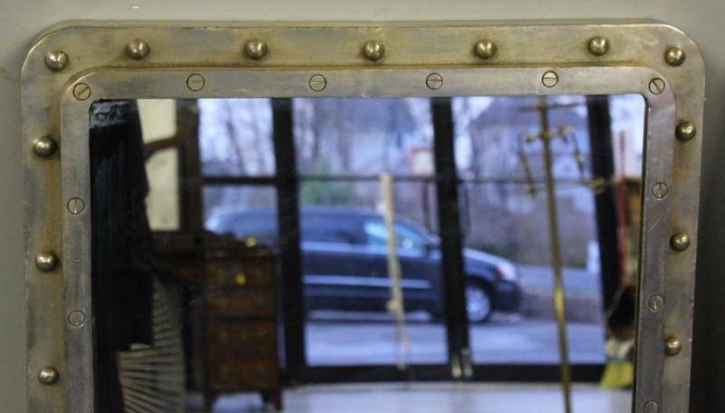 265: Pair of Steel Industrial Style Mirrors. - 3