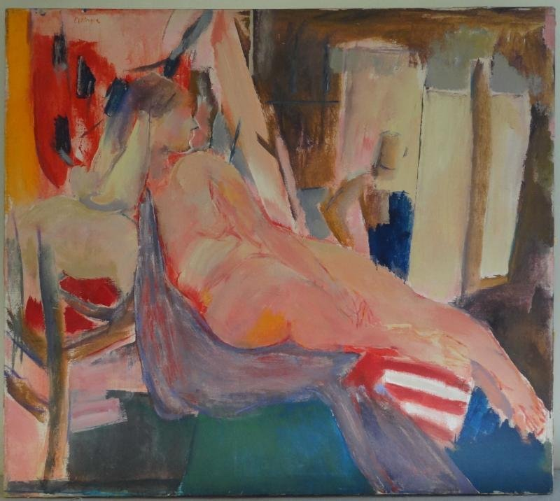 6: ETTINGER, Stephen. Large O/C of a Reclining Nude
