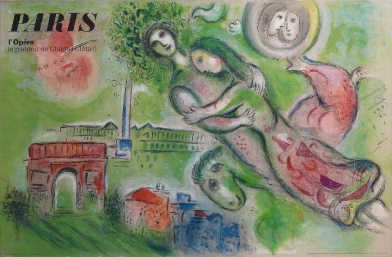 "11: CHAGALL, Marc. Lithograph Poster ""Paris L'Opera."""
