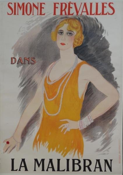 "12: VERTES, Marcel. Lithograph Poster ""Simone"