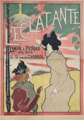 """13: ROBBE, Manual. Lithograph Poster """"'L'eclatante.''"""