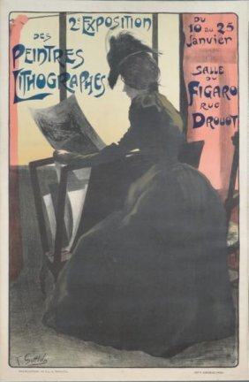 """14: GOTTLOB, Fernand. Lithograph Poster """"2e Exposition"""