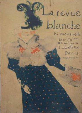 """TOULOUSE-LAUTREC. Lithograph Poster """"La Revue"""