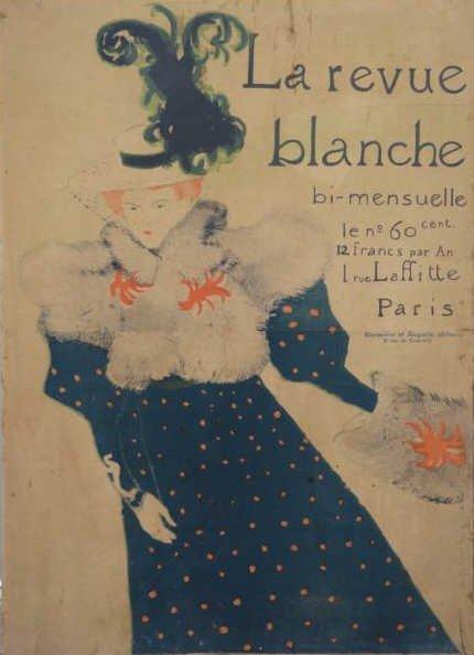 """16: TOULOUSE-LAUTREC. Lithograph Poster """"La Revue"""