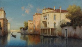 20: ALDINE II, Marc - Attributed. O/C Venetian Scene.