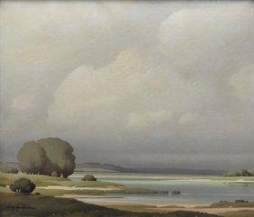 21: DE CLAUSADE, Pierre. Oil/Canvas of The Loire.