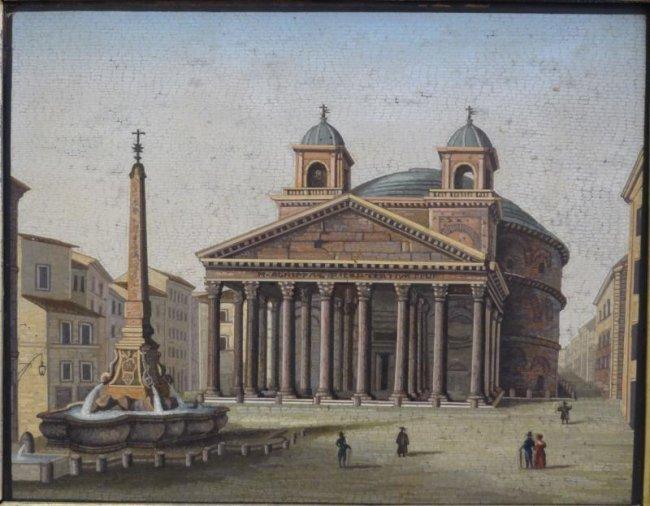 149: MOGLIA, C. Luigi. 19th Century Roman Micromosaic.