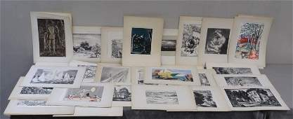 278 Large Collection of American Artist Group Prints