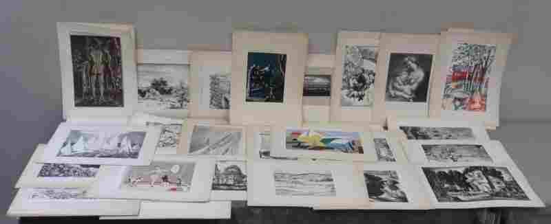 278: Large Collection of American Artist Group Prints.