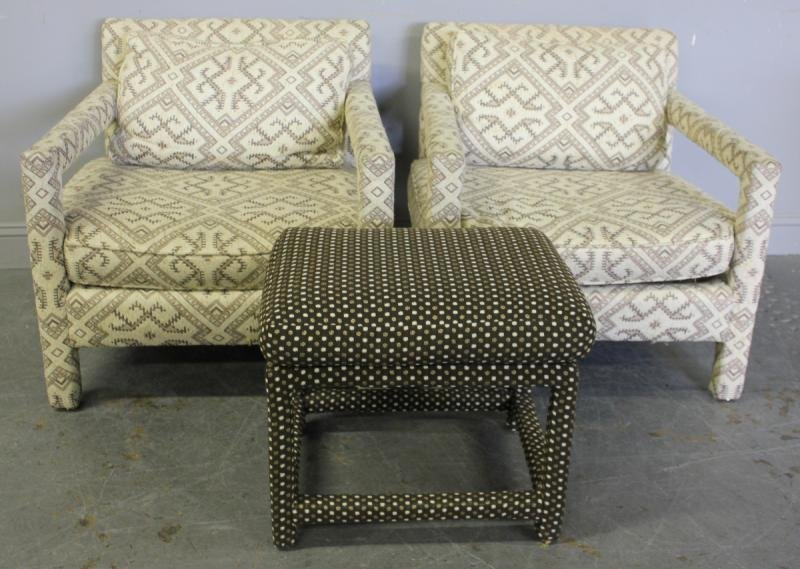 335: Pair of Bernhardt Flair Upholstered Chairs with a