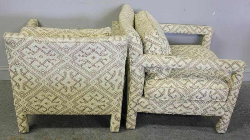 335: Pair of Bernhardt Flair Upholstered Chairs with a - 5