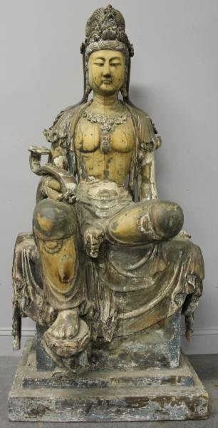 351: Large and Impressive Antique Chinese Carved and
